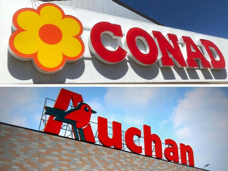 Conad-Auchan, Coop: primi secondi e altri contorni